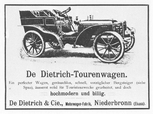 Advertentie van De dietrich.
