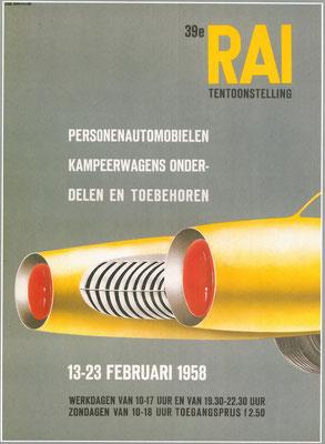 Affiche voor de RAI 1958.