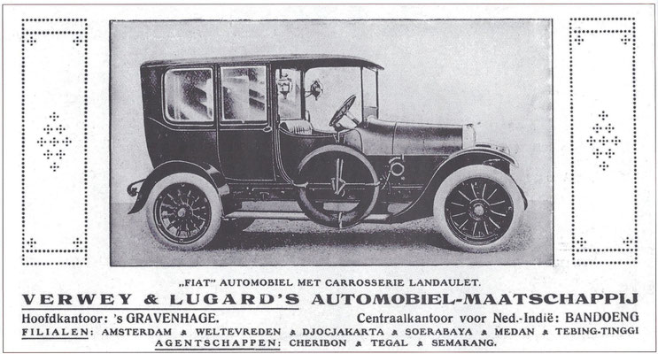 Een advertentie van  Verwey & Lugard uit 1916.