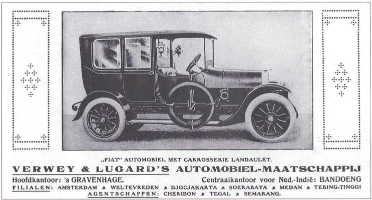 Advertentie van  Verwey & Lugard uit 1916.