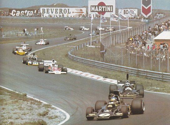 Grand Prix Formule 1 Zandvoort 1974. De eerste Nederlandse Grand Prix Formule 1 vond in 1949 plaats.