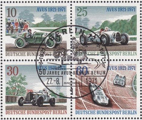 Postzegels Duitsland, 50 jahre Avus-Rennen, 1971.
