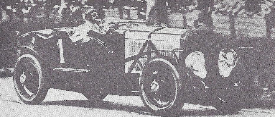 Een Excelsior in de 24-uurs race van Spa  in 1927.