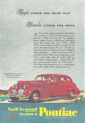 Een advertentie voor Pontiac.
