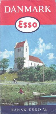 Kaart Esso, Denemarken, 1960.