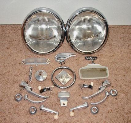 Koplampen en kleine componenten IFA F9.