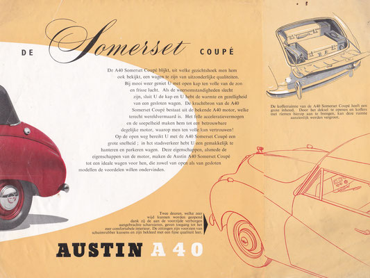 Brochure Austin A40 Somerset Coupé.