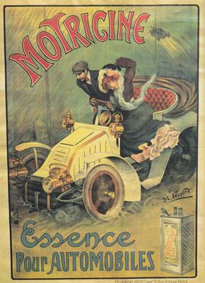 Reclame  voor brandstof uit het begin van de 20e eeuw.