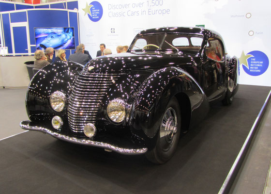 Delahaye 135 MS Coupé Pourtout uit 1946. (Techno Classica Essen 2019)