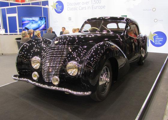 Delahaye 135 MS Coupé Pourtout uit 1946. (Techno Classica Essen 2019)