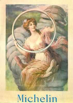 Een jugendstil-ontwerp uit 1913 van  A. Renaud voor een Michelin fietsband.