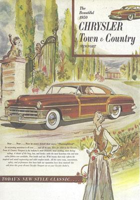 Advertentie Chrysler uit 1950.