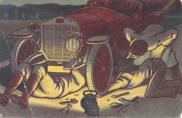 Deze postkaart werd in 1914 verzonden.