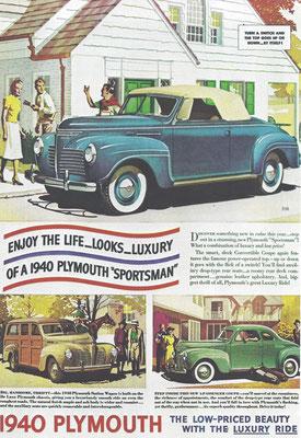 Een advertentie voor Plymouth uit 1940.