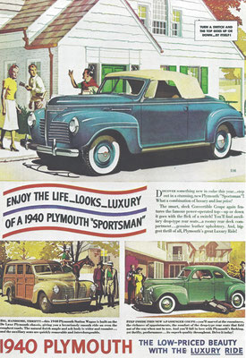 Advertentie Plymouth uit 1940.