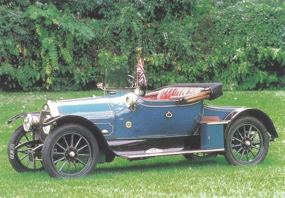 Darracq Type V 12/14 HP uit 1914.