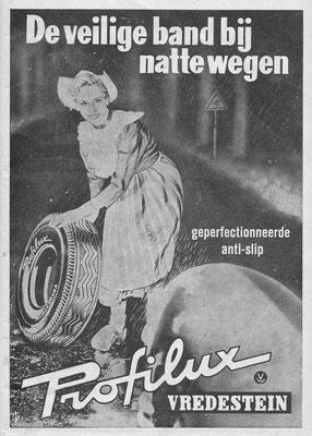 Advertentie Vredestein uit 1954.