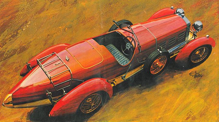 Hispano Suiza Boulogne 45 uit de 20er jaren.