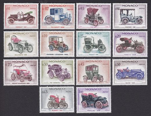Postzegels Monaco uit 1961.