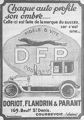 Een advertentie van DFP.