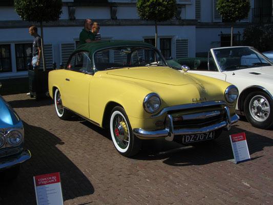 Simca 9 sport uit 1953 met een carrosserie van Facel. (Concours d'Elegance Paleis Soestdijk 2019)