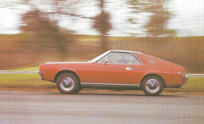 American Motors AMX-coupé uit 1968.