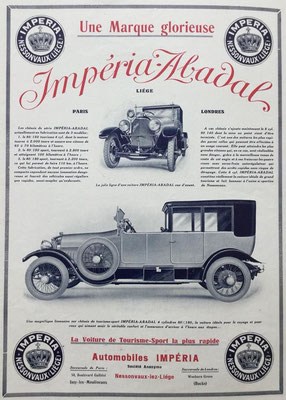 Advertentie Impéria.