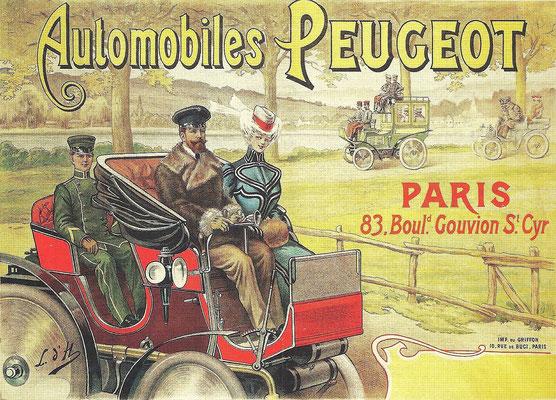 Reclame van Peugeot uit ~1896.