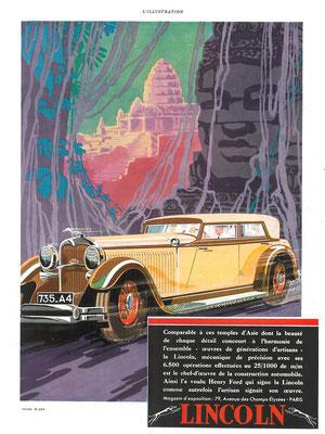 Franse advertentie voor Lincoln uit 1931.
