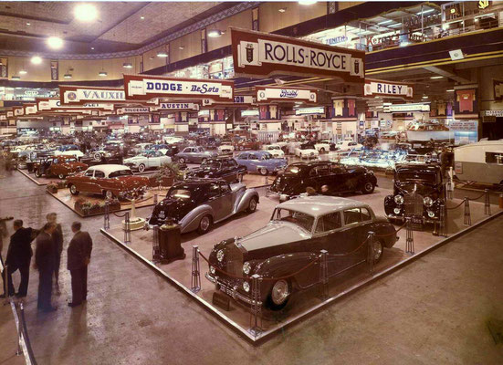London, Earls Court, 1954, Rolls-Royce stand.