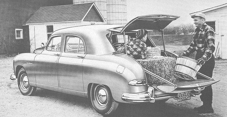 """Een Kaiser """"utility sedan""""."""