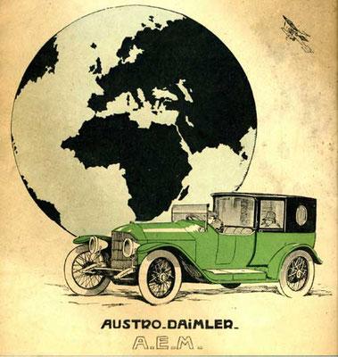 Reklame voor Austro Daimler uit 1919.