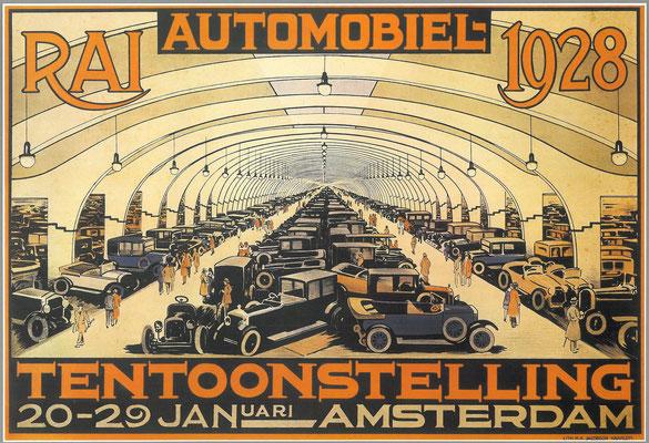 Een affiche voor de RAI 1928.