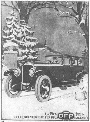Advertentie van DFP uit 1923, ontworpen door A. Kow.