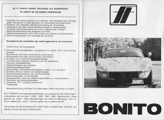 Folder (voor/achter) FT Bonito type 2.