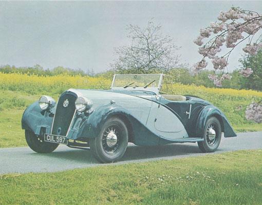Hotchkiss Type 686 Grand Sport Roadster 3,5 liter uit 1936 met een carrosserie van het Engelse bedrijf Lancefield.