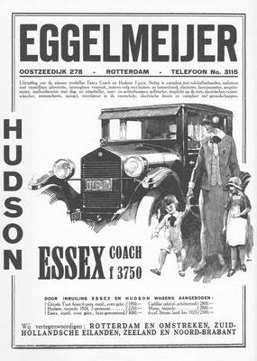 Advertentie voor de Hudson Essex.