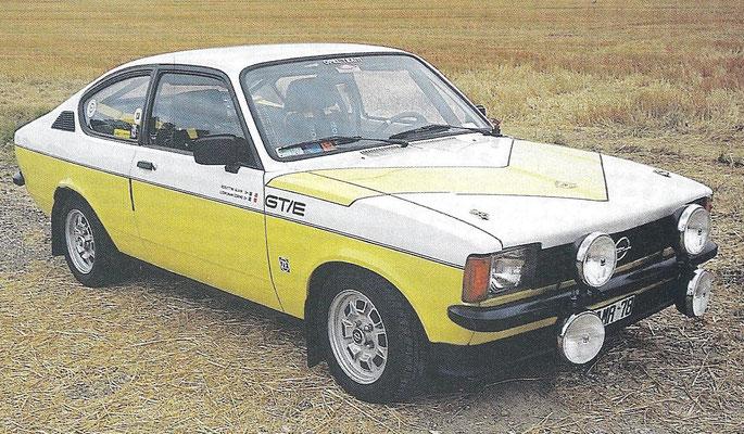 Een Opel Kadett GT E uit 1975.