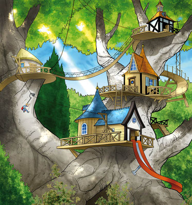 Illustration tree house