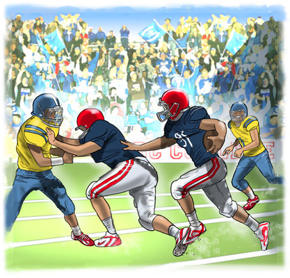 Illustration American Football