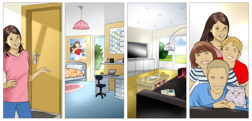 Illustration Kid's room 05
