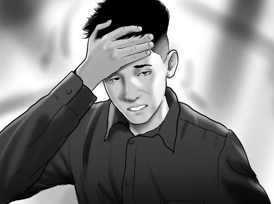 Illustration Kopfschmerzen