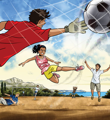 Coverillustration Lektüre Fussball