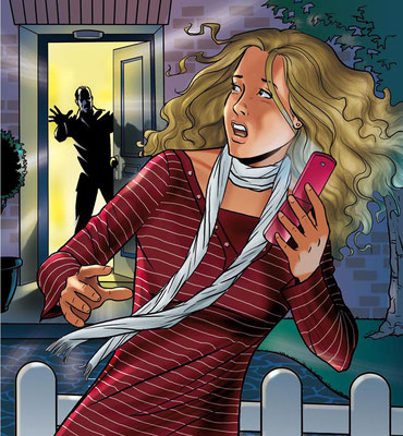 Illustration_School reader cover_Family drama