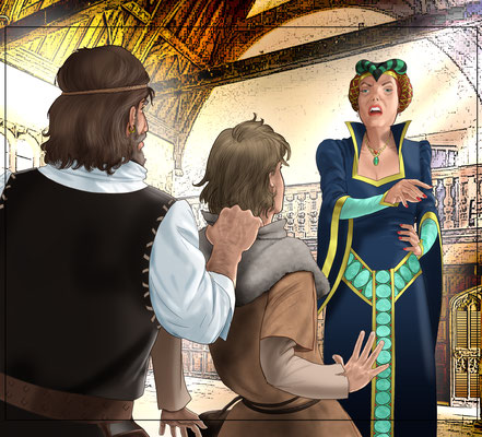 Illustration Adventure in the middle ages 04