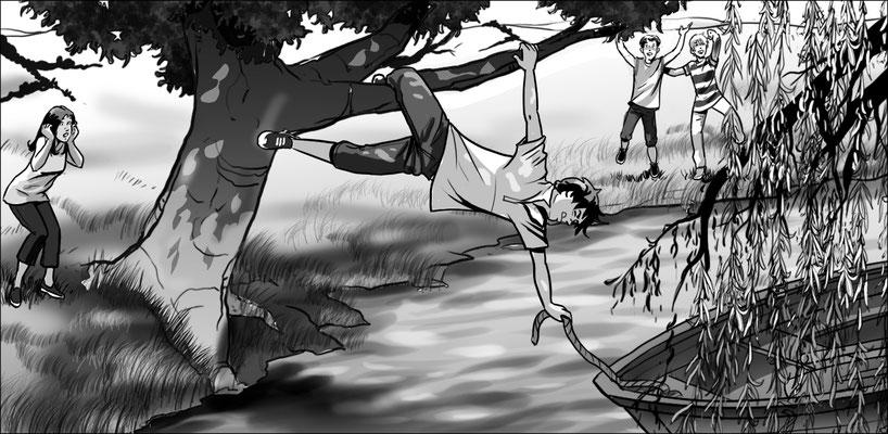 Illustration Kinder im Ruderboot 02