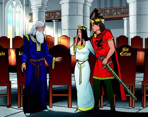 Illustration Lektüre King Arthur 02