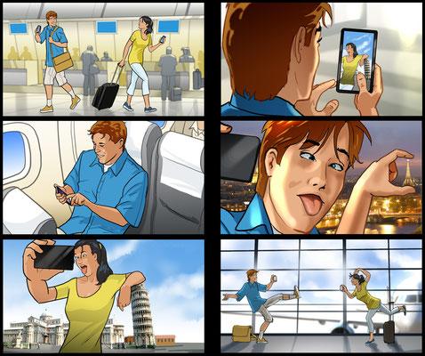Flughafen Storyboard