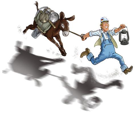 Cartoon Illustration_Banking Zeitschrift