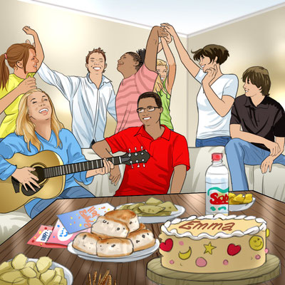 Illustration Jugend-Party
